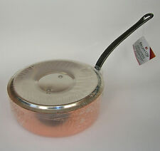 "BAUMALU French Alsace Copper 22 cm (8 3/4"") Saute Pan w. lid 2.6 Liter NEW w/Tag"