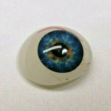 Vintage Antique Glass Acrylic Prosthetic Human Eye - Blue and Brown