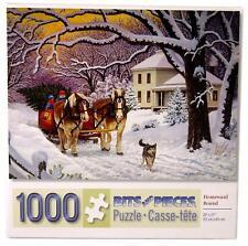 "CHRISTMAS ""HOMEWARD BOUND"" 1000 PIECE PUZZLE-BITS & PIECES-NEW John Sloane"