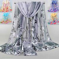Fashion Women Chiffon Flower Printed Shawl Scarves Long Soft Shawls Wrap Gift