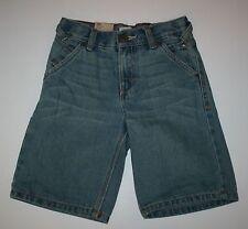 Neu Levi's Hell Blau Denim Utility Shorts Größe 7X Jahr Nwt Verstellbare Taille