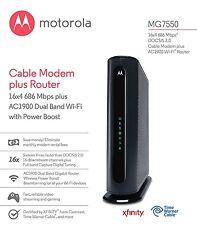 Motorola MG7550 16x4 686 Mbps DOCSIS 3.0 Cable Modem + AC1900 Wireless Dual-Band