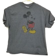 Mickey Mouse Grey embroidered T-shirt Disney Store Adult XL EXTRA LARGE GOOD CON