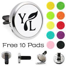 30mm Y&L note Zinc Alloy car Vent Clip Air Freshener Aroma Diffuser Locket+pads