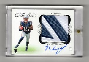 N`KEAL HARRY NFL 2019 FLAWLESS ROOKIE CLEAT AUTOGRAPHS # 3/5 (PATRIOTS) RARE