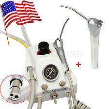 USA Portable Dental Turbine unit Work w/ Compressor +Air Water Syringe Handpiece