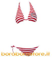 Costume bikini donna Baci & Abbracci tg.XS tia rigato bianco-rosso