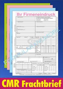 CMR - Frachtbriefe DIN A4,selbstdurchschreibend,internationaler CMR Frachtbrief