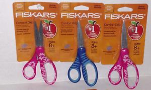 """Fiskars 194640-1004 Softgrip 6"""" Big Kids Scissors, ( Qty 3 Packs )"""