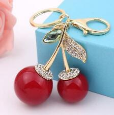 Car Keyring Keychain Charm Pendent For Bag Red Cherry Fashion Gift
