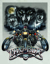 "Tin Sign  ""Live to Ride-Wolves ""  Motorcycles Harley Garage METAL Wall Art"