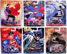 Hot Wheels Pop Culture Superman 6 Car Set VW T1 Panel Dodge Power Wagon 52 Chevy