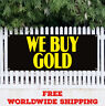 WE BUY GOLD Advertising Vinyl Banner Flag Sign Pawn Shop Jewelry Silver Scrap