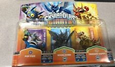 Skylanders Giants POP FIZZ, WHIRLWIND GRANITE & TRIGGER HAPPY  New  VARIANT RARE