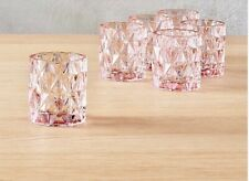 CB2 Pink BETTY Votive Tea LIGHT CANDLE HOLDERS Set of 6