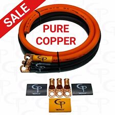 GP Car Audio Big 3 UPGRADE wiring Kit OFHC COPPER TRUE 1/0 AWG GAUGE OrangeBlack