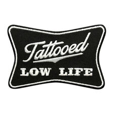 Tattooed Low Life Tattoo Punk Morale HOOK PATCH (3.0 X 2.0) BY MILTACUSA