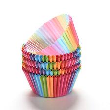 100x papier Gâteau Cupcake cuisson Muffin BOITE TASSE étui fête Plateau moule