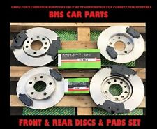 VAUXHALL ASTRA H MK5 2004-2009 FRONT & REAR BRAKE DISCS AND PADS SET 5 STUD