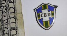 Old Pin soccer BRASIL football Association CBD enamel button Brazilian shield