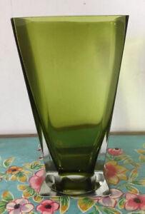 Lovely Vintage Green Glass Vase