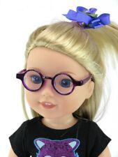 Purple  Circle Frame Reading Glasses  for 14.5'  dolls  American Fashion World