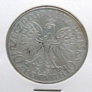 Poland silver coin 10 Złotych Queen Jadwiga 1933