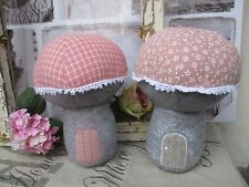 Türstopper Pilz rosa Frühling mit Haustür Türsperre Türhalter Türpuffer Welcome