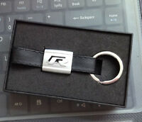 New Alloy Leather metal Keyring keychain Car Logo R Line For VW with retail box