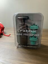 RABBIT WINE PRESERVER VACUUM PUMP with 2 STOPPERS. NEW in Box!!