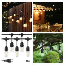 30 x LED E27 Birnen 1,5W warmweiß LED Party Lichterkette 30M Aussenlichterkette