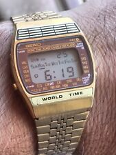 Reloj Seiko LCD A239-5020 World Time Vintage