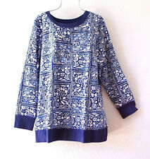 New~Woman Within~Blue & White Navy Sweatshirt Pullover Shirt Plus Size Top~XL 1X