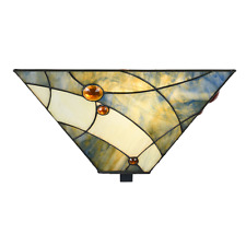 Tiffany Plafonnières, Ceiling Lamps, Deckenleuchten Sky Blue- Art Deco Trade
