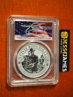 1991 S $1 PROOF SILVER MOUNT RUSHMORE DOLLAR PCGS PR69 DONALD TRUMP MAGA LABEL
