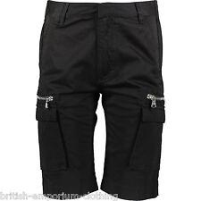 PIERRE BALMAIN Black Cotton Cargo Bermuda Shorts BNWT Made In Italy IT50 UK34