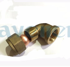 """1/2"""" BSP Female Elbow Brass Fit 15mm OD Tube Connector Compression fitting"""