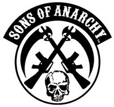 SONS OF ANARCHY SOA SKULL GUNS BIKER PATCH