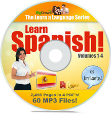 LEARN HOW TO SPEAK SPANISH LANGUAGE COURSE TUTORIAL ON HUGE DATA DVD 100's SOLD!
