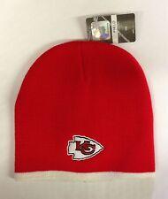 Kansas City Chiefs Knit Beanie Winter Hat Toque Skull Cap Red  w/ White trim