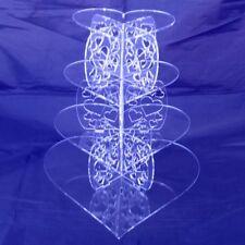 quatre niveaux Transparent Acrylique Cœur piliers de Mariage & anniversaire