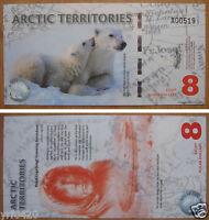 Arctic Territories $8 Polymer Banknote 2011 UNC