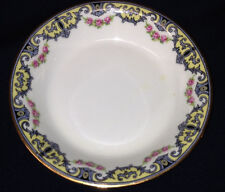 OLD ABBEY LIMOGES FRANCE FRUIT/DESSERT BOWL PINK FLOWERS ROSES YELLOW INSET MG