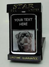 ROTTWEILER DOG ANY PHOTO ENGRAVED LIGHTER GIFT