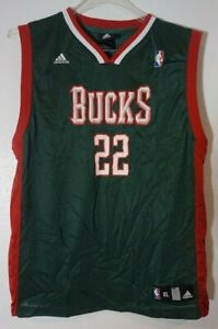 Adidas Milwaukee Bucks 22 Redd Basketball Jersey Youth XL 18-20