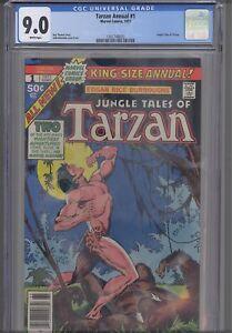 Tarzan Annual #1 CGC 9.0 DC 1977 Edgar Rice Burroughs based Comic : NEW Frame: