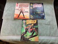 DOC SAVAGE The Man of Bronze #1, 2, 3 Curtis Marvel Comics Magazine 1975