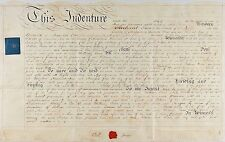 Pristine, Very Early English Leasing Indenture, 1816, With Wax Seal & Stamps