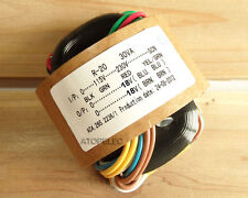 115V/230V 30W r-core transformer for audio ampli amplificateur micros dac 18V+18V