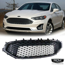 For 2019 2020 Ford Fusion Front Upper Grill Gloss Black Grille